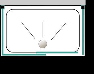 Porta scorrevole + 2 lati fissi